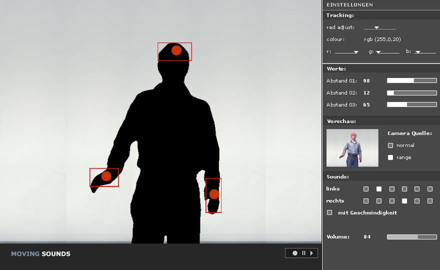 Moving Sounds- Webcam Tracking